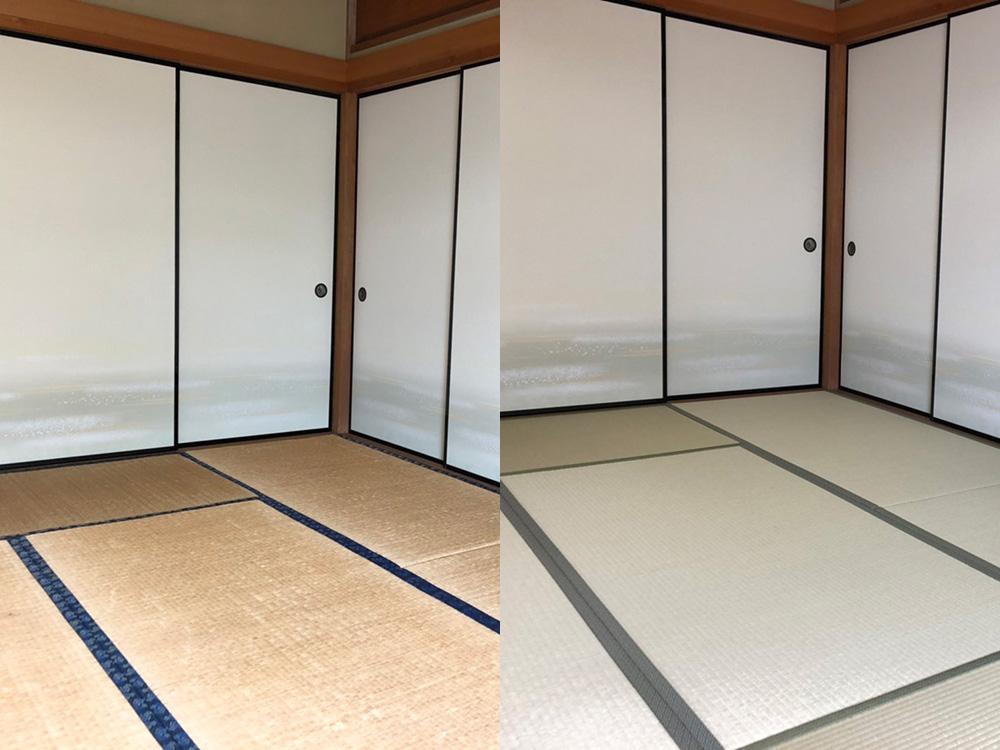 畳の張り替えが必要な状態について画像